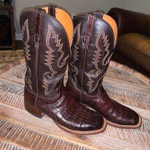 Lucchese Men's 8.5 Caiman Western Cowboy Boot